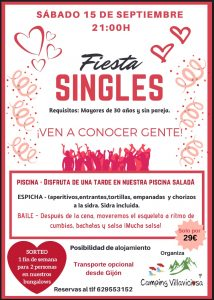 Fiesta Singles en Camping Villaviciosa