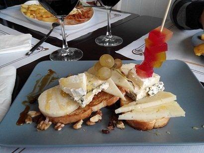 Tosta quesos asturianos
